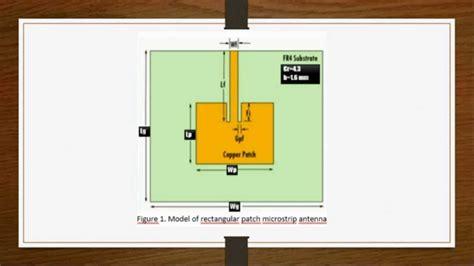 design  rectangular microstrip patch antenna part