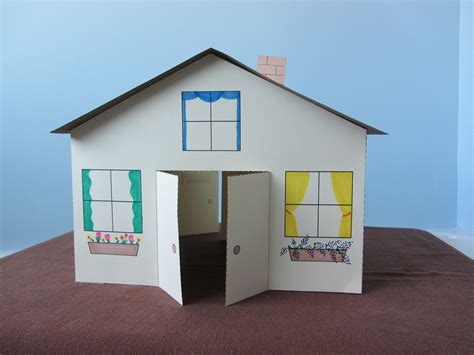 How To Make A 3d House With Paper - 3d paper house children s craft