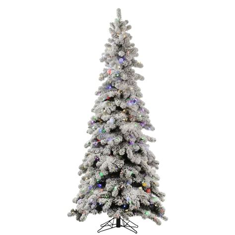 o christmas tree in italian vickerman 328637 8 x 44 quot flocked kodiak spruce 650 warm white italian led 65 frosted white