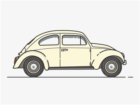 simple business model template creative cartoon classic car side view cartoon car