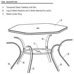 Patio Table Parts Replacement by Patio Furniture Replacement Parts Table Rim Clip Trend