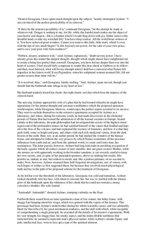 The Birthmark Essay by The Birthmark Essay Questions Maybankperdanntest Web Fc2