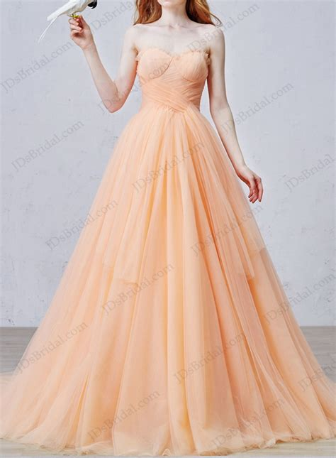 color dresses is057 uniqe color soft tulle gown wedding dress