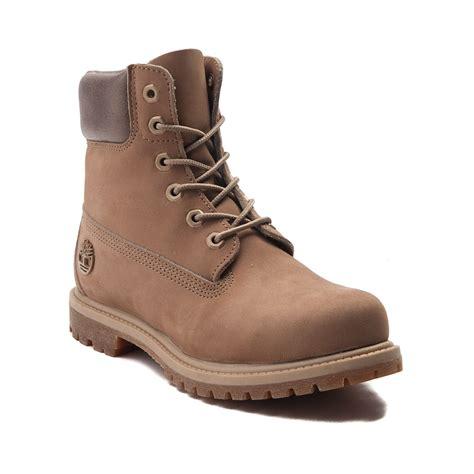 light brown boots womens womens timberland 6 metallic collar premium boot light
