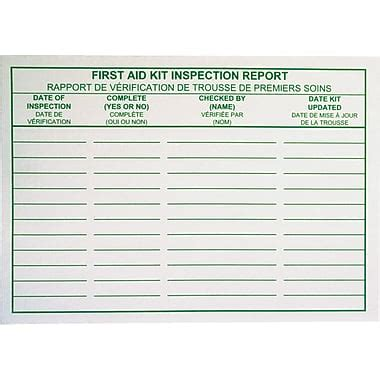 Bilingual Report Card Template by Aid Kit Inspection Report Cards Bilingual 25 Pack