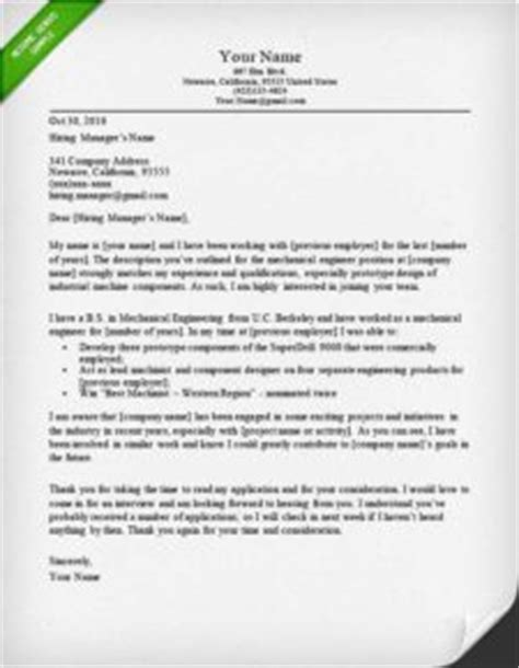 Car Design Engineer Cover Letter by 32 Best Sle Cover Letter Exles For Applicants Wisestep