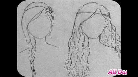 cute easy hairstyles to draw how to draw cute hairstyles for beginners part two