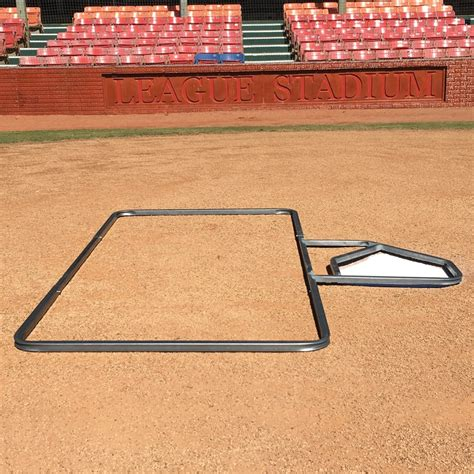 standard 3 x 6 baseball batter s box template sports