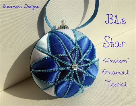 blue star no sew fabric christmas ornament tutorial i m