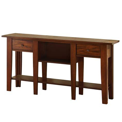 Oak Sofa Table by Desoto Oak Sofa Table De200s The Home Depot