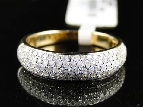 K Mens La S  Ee  Yellow Ee    Ee  Gold Ee   Round Diamond Pave  Mm Dome