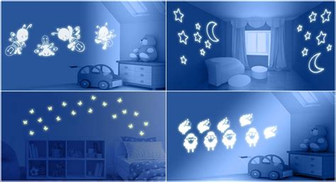 glowing for room glow within the darkish paint and decals for your kid s room house interior designs