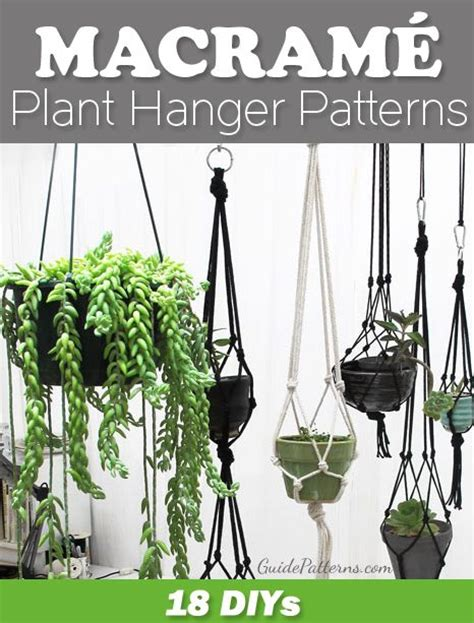 Free Patterns For Macrame Plant Hangers - 17 migliori idee su free macrame patterns su