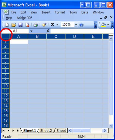 how to select sheets quickly select entire sheet