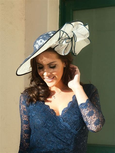 fascinators for mother of the bride special guests ivory navy lace hatinator chesca mother of the bride hats and fascinators mad hatter