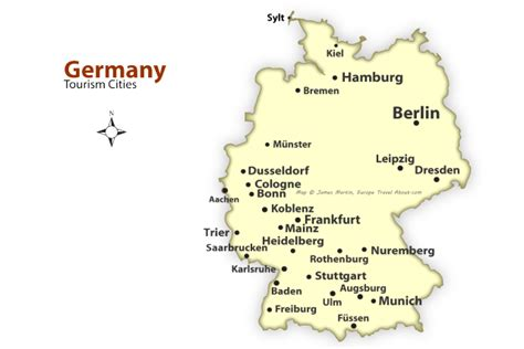Germany Map Cities by German Cities Map Best Places To Visit In Germany