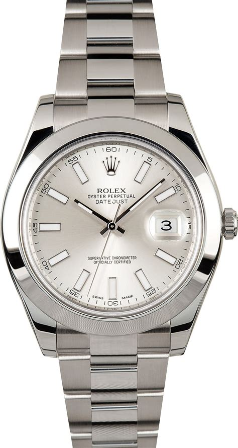 Rolex Oyster Perpetual Datejust 41 116300 rolex datejust 41mm 116300 silver index