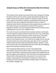Civil Essay by Sle Essay On Why The Communists Won The Civil War
