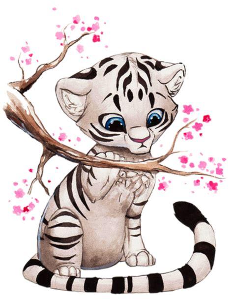 imagenes de tigres kawaii manga animaux