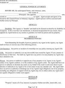 free durable power of attorney template free louisiana general durable power of attorney form