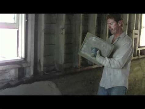 repair interior basement foundation walls with cement