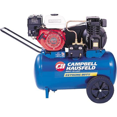 5 5hp honda horizontal air compressor 20 gal cbell hausfeld vt6171
