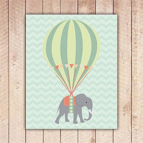 hot air balloon home decor elephant and hot air balloon nursery printable art print