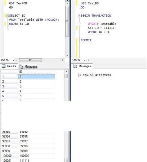 sql server compare tables compare sql server nolock and readpast table hints