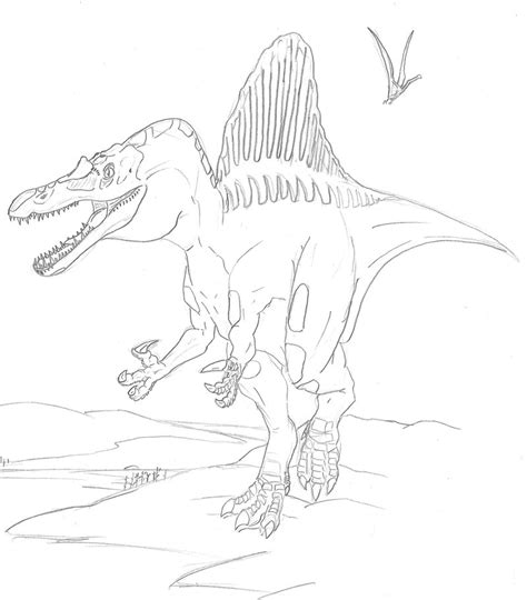 spinosaurus coloring pages dinosaurs pictures and facts