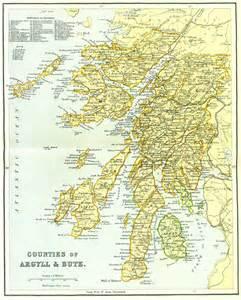 argyle map ordnance gazetteer of scotland counties of argyll bute map
