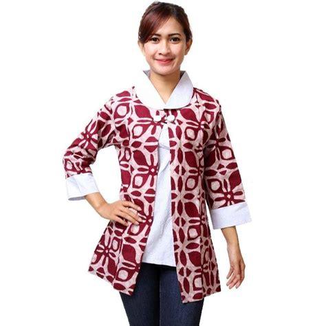 Atasan Blouse Muslim Wanita Dress Bagus Modern Ah00117 Murah Grosir gambar kaos wanita modern lengan panjang model terbaru