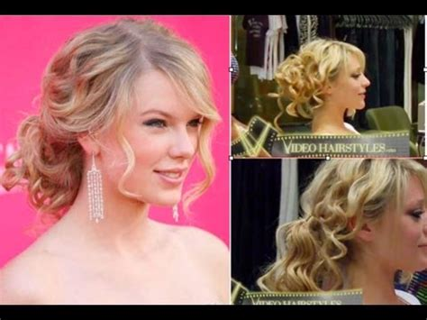 taylor swift prom hairstyles tutorial taylor swift inspired how to get the messy side ponytail