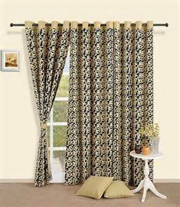 Black And Gold Valance Curtains Buy Black And Gold Print Curtains By Swayam For From