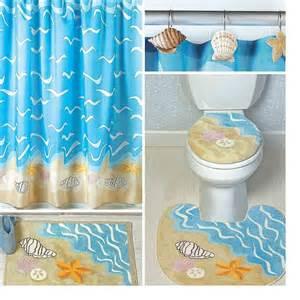 Seashell shell starfish sand dollar shower curtain bath nautical