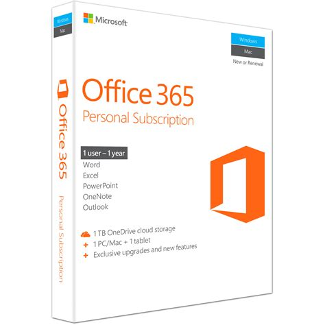 Microsoft Office Personal by Microsoft Office 365 Personal Qq2 00597 B H Photo