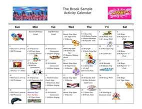 Schedule Of Activities Template by Exle Of Calendar Of Activities Calendar 2017 Printable