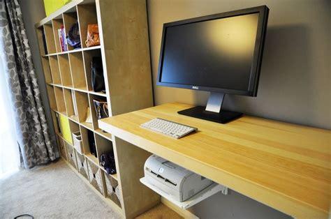 floating desk diy standing desk using ikea tornliden desktop and algot storage system home