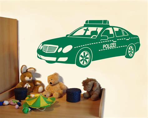 Wandtattoo Kinderzimmer Polizei by Wandtattoo Polizeiauto Wandsticker Polizei Kaufen Bei Plot4u