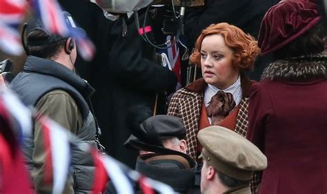 lucy davis as etta candy wonder woman on the set lucy davis as etta candy is