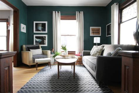 my teal living room