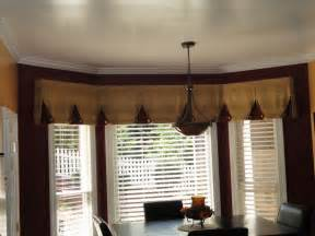 Curtain Rods For Bow Windows bay window valance contemporary kitchen charlotte