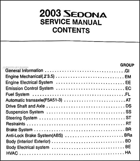 how to download repair manuals 2004 kia sedona windshield wipe control 2003 kia sedona repair shop manual original
