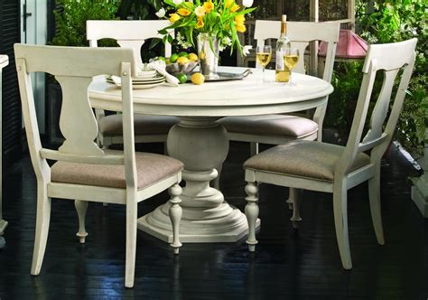 paula deen home  pc  pedestal dining set  linen