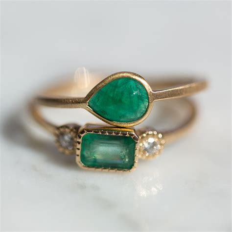 Emerald Ring by Lexie Emerald Ring Catbird