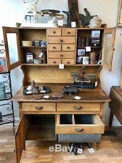 1900/1950s Country Primitive Kitchen Hoosier Cabinet
