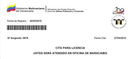 licencia de conducir en venezuela solicitud y requisitos citas programadas para solicitar la licencia de conducir