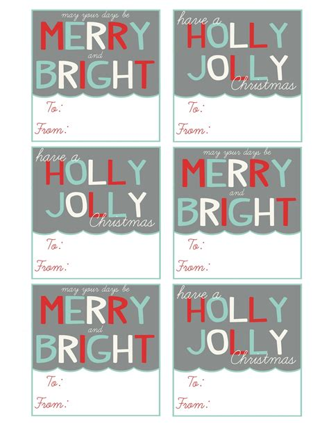 printable gift name tags christmas mommy by day crafter by night printable christmas gift