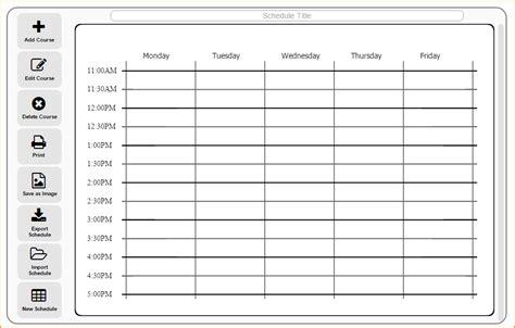 class schedule maker questionnaire template