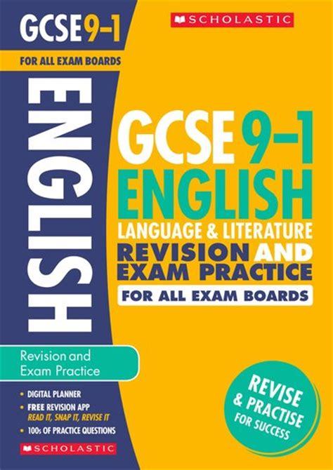 grade 9 1 gcse english gcse grades 9 1 english language and literature revision and exam practice book for all boards