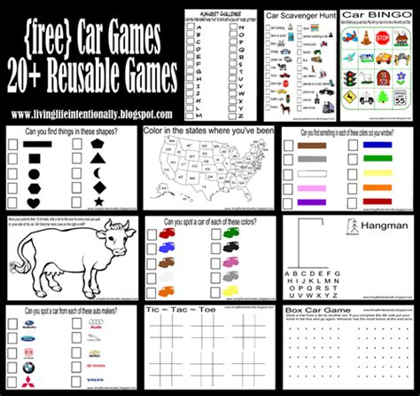 printable car games for adults 6 best images of adult printable travel games car